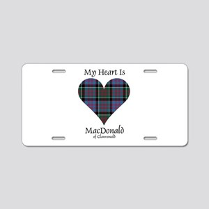 Heart-MacDonald of Clanrana Aluminum License Plate