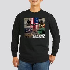NAVY 1776 Long Sleeve Dark T-Shirt