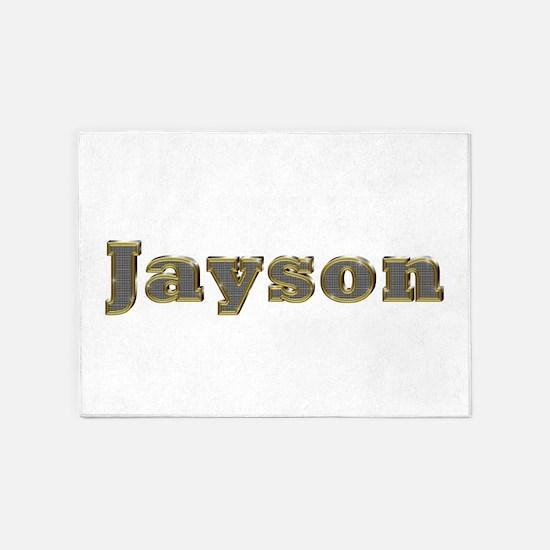 Jayson Gold Diamond Bling 5'x7' Area Rug
