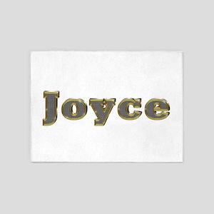 Joyce Gold Diamond Bling 5'x7' Area Rug