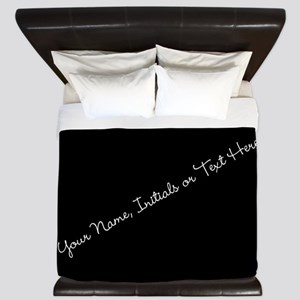 Your Name, Initials or Text Here King Duvet