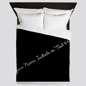 Your Name, Initials or Text Here Queen Duvet