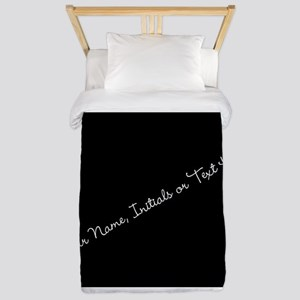 Your Name, Initials or Text Here Twin Duvet