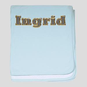 Ingrid Gold Diamond Bling baby blanket
