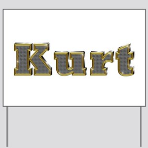 Kurt Gold Diamond Bling Yard Sign