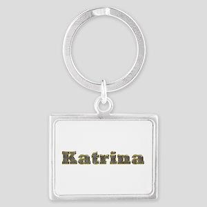 Katrina Gold Diamond Bling Landscape Keychain