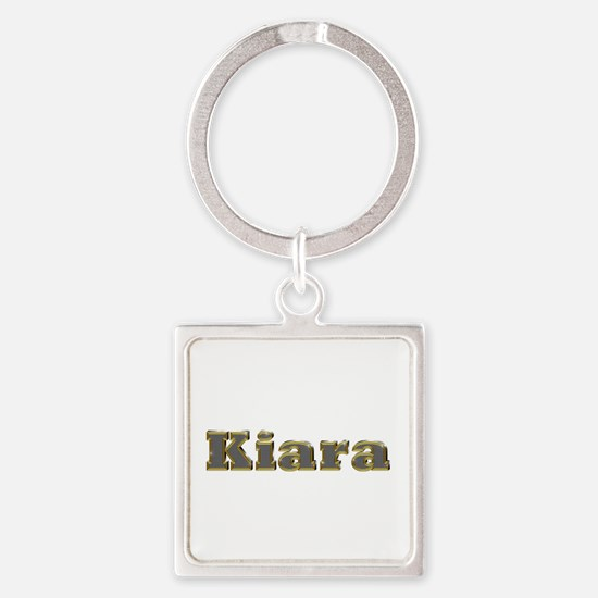 Kiara Gold Diamond Bling Square Keychain
