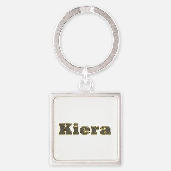 Kiera Gold Diamond Bling Square Keychain