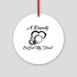 Deputy Cuffed Ornament (Round)