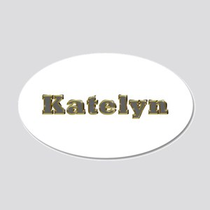 Katelyn Gold Diamond Bling 20x12 Oval Wall Decal