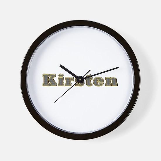 Kirsten Gold Diamond Bling Wall Clock