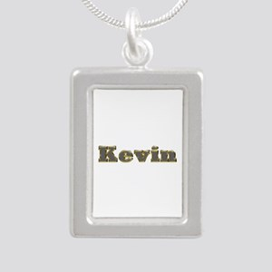 Kevin Gold Diamond Bling Silver Portrait Necklace