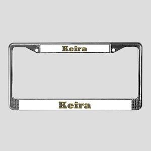 Keira Gold Diamond Bling License Plate Frame