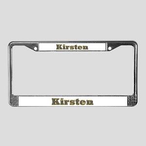 Kirsten Gold Diamond Bling License Plate Frame