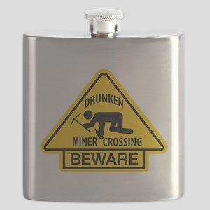 Drunken Miner Crossing Flask