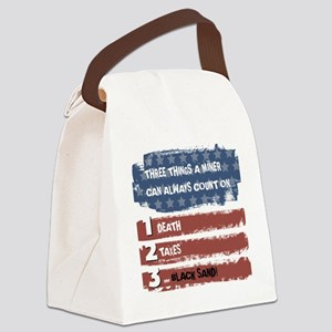Black Sand Canvas Lunch Bag