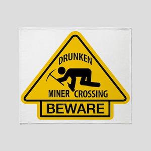 Drunken Miner Crossing Throw Blanket
