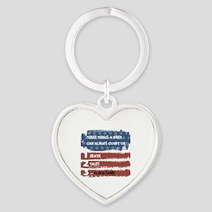 Black Sand Heart Keychain