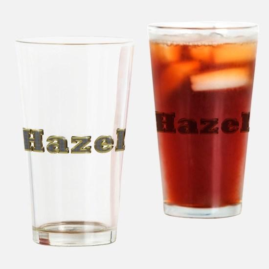 Hazel Gold Diamond Bling Drinking Glass