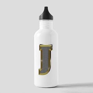 J Gold Diamond Bling Water Bottle