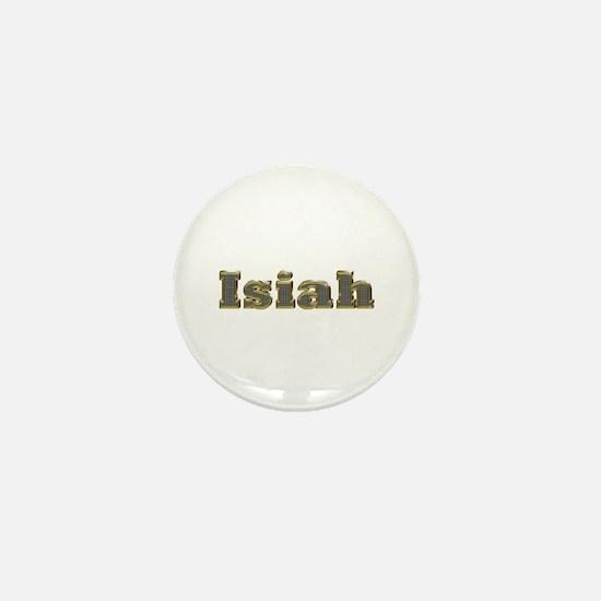 Isiah Gold Diamond Bling Mini Button