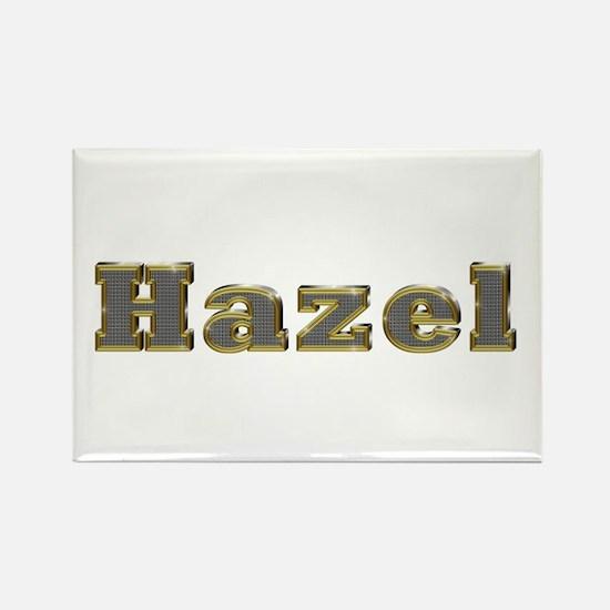 Hazel Gold Diamond Bling Rectangle Magnet