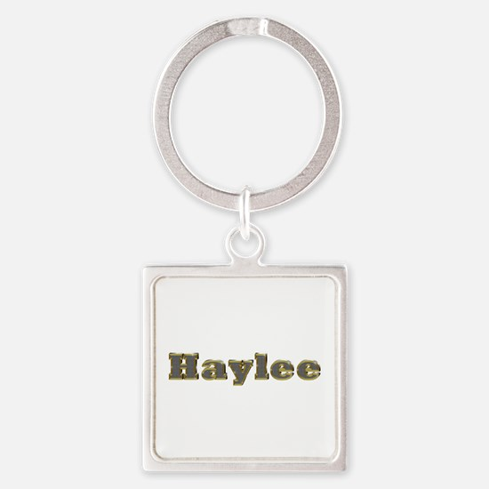 Haylee Gold Diamond Bling Square Keychain