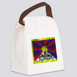 Distressed Tibet Flag Canvas Lunch Bag