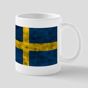 Distressed Sweden Flag Mugs