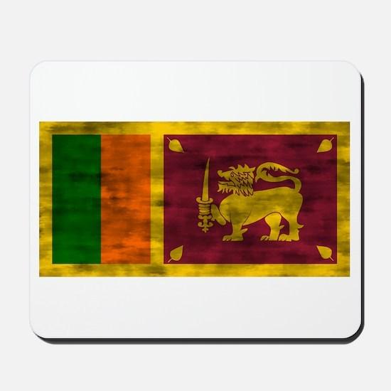 Distressed Sri Lanka Flag Mousepad