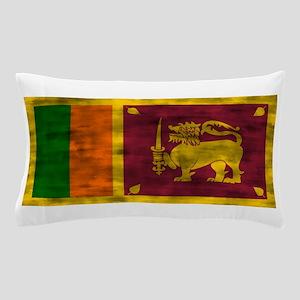 Distressed Sri Lanka Flag Pillow Case