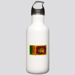 Distressed Sri Lanka Flag Water Bottle
