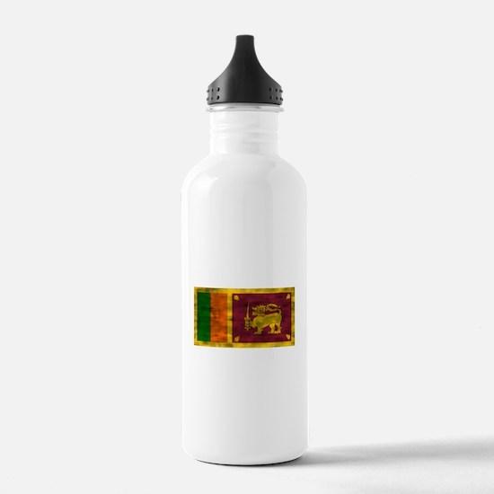 Distressed Sri Lanka Flag Water Bottle