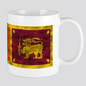 Distressed Sri Lanka Flag Mugs
