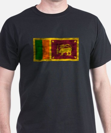 Distressed Sri Lanka Flag T-Shirt