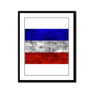 Distressed Serbia and Montenegro Flag Framed Panel