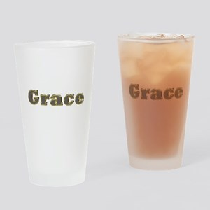 Grace Gold Diamond Bling Drinking Glass