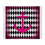 Pink Black Anchor Throw Blanket