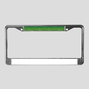 Snake Defiance License Plate Frame