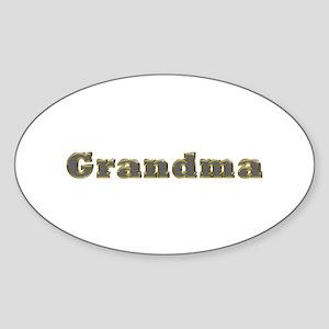 Grandma Gold Diamond Bling Oval Sticker