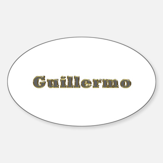 Guillermo Gold Diamond Bling Oval Decal