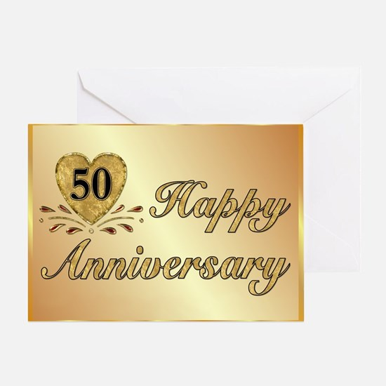50th - Golden Anniversary Greeting Card