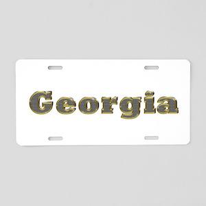 Georgia Gold Diamond Bling Aluminum License Plate