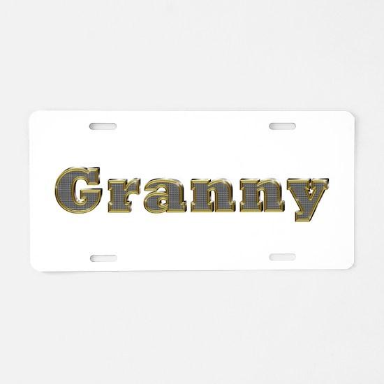 Granny Gold Diamond Bling Aluminum License Plate