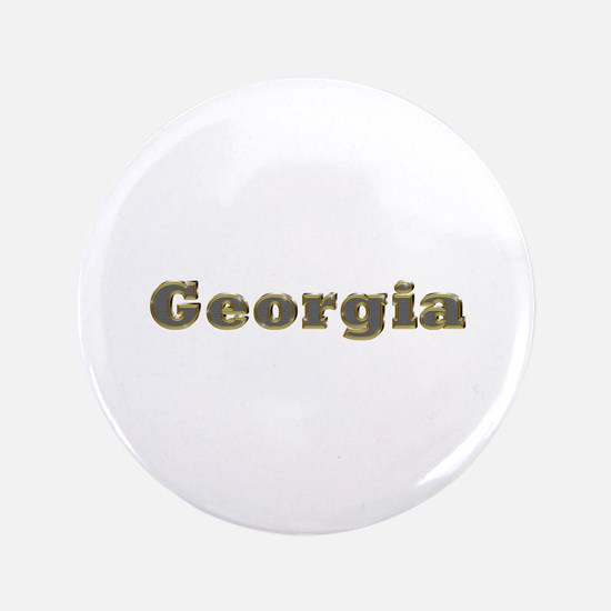 Georgia Gold Diamond Bling Big Button