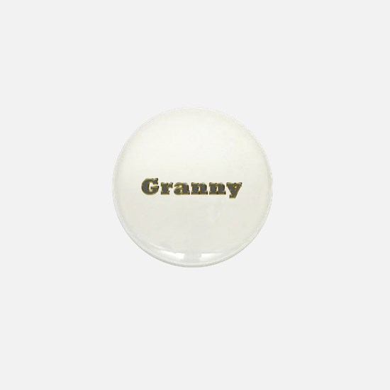 Granny Gold Diamond Bling Mini Button