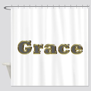 Grace Gold Diamond Bling Shower Curtain