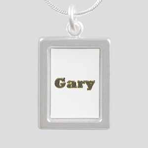 Gary Gold Diamond Bling Silver Portrait Necklace