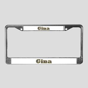Gina Gold Diamond Bling License Plate Frame
