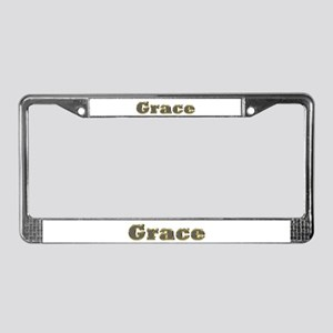 Grace Gold Diamond Bling License Plate Frame